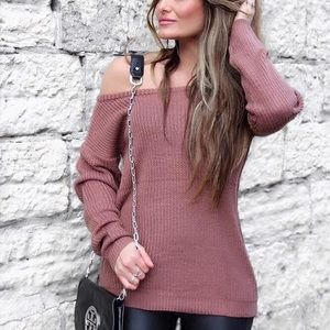Missguided Rose Pink Slouchy Sweater